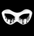 mysterious half mask vector image vector image