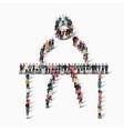 people sports gymnastics vector image vector image