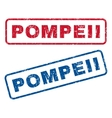 Pompeii Rubber Stamps vector image vector image