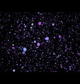 purpleviolet glitter particles background vector image