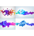 realistic abstract 3d shape faceted vector image vector image