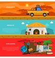 Safari Banner Set vector image