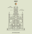 saint nicholas church in ghent vector image vector image