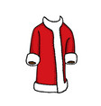 santa clothes on white vector image vector image