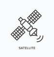satellite flat line icon outline vector image vector image