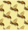 seamless pattern with cute 3d insect vector image vector image