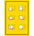 Set of geometric volume figures vector image