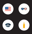 set of history icons flat style symbols with usa vector image vector image