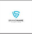 shield letter s logo icon design vector image vector image
