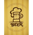 sign mug with beer vector image