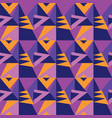 simple 60s vivid geometric seamless pattern vector image vector image