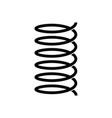 spiral spring icon vector image