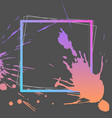splash ink frame template gradient art vector image vector image