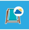 summer vacation design beach chair icon vector image vector image