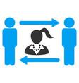 swingers exchange woman icon vector image vector image