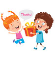thank you characters vector image vector image