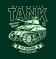 vintage american m4 sherman tank vector image vector image