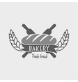 Vintage bakery label badge or logo concept Can be vector image vector image