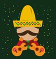 viva mexico celebration vector image vector image