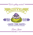 Wedding Invitation Card - Dessert Cake Theme vector image vector image