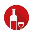 wine bottle icon vector image vector image