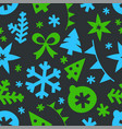 winter season holidays seamless background vector image vector image