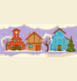 winter street with people on holiday couples vector image