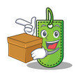 with box price tag character cartoon vector image vector image