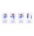 woman in information surroundings banners set vector image vector image