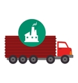 red cargo truck vector image