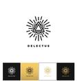 Triangle star logo icon vector image