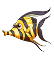 A stripe-colored fish vector image vector image