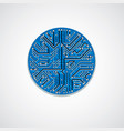 abstract computer circuit board colorful blue vector image vector image
