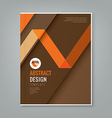 abstract orange line design on brown background