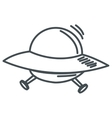 alien spaceship icon vector image vector image