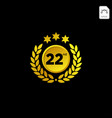 anniversary emblem 1-99 gold luxury decoration vector image