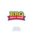 bbq grill menu logo fast food restaurant vector image