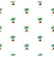 beautifil palm tree leaf silhouette seamles vector image