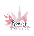 beauty cosmetics logo label for beauty studio vector image vector image