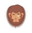 bigfoot winks emoji yeti joyful emotion face vector image
