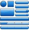 blue glossy website internet media buttons vector image