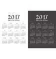 calendar for New Year 2017 Set vector image