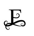 capital letter for monograms and logo beautiful vector image vector image