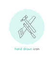 carpenter tool icon line element vector image vector image