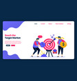 cartoon banner template for reach target vector image vector image