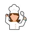 Chef cartoon icon Cooking and Menu design vector image