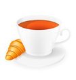 cup of tea 03 vector image vector image