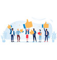 customer review rating different people give vector image