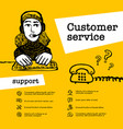 customer service concept support operator chat vector image vector image