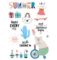 Cute Summer Design Scandinavian Set vector image